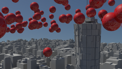 Tutorial: Reactor – 3D Max, Bouncing Balls in a 3D City