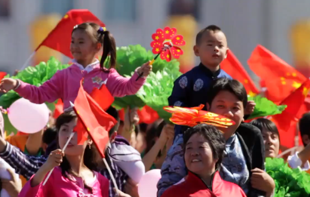 China's 60th Anniversary National Day – Timelapse and Slow Motion