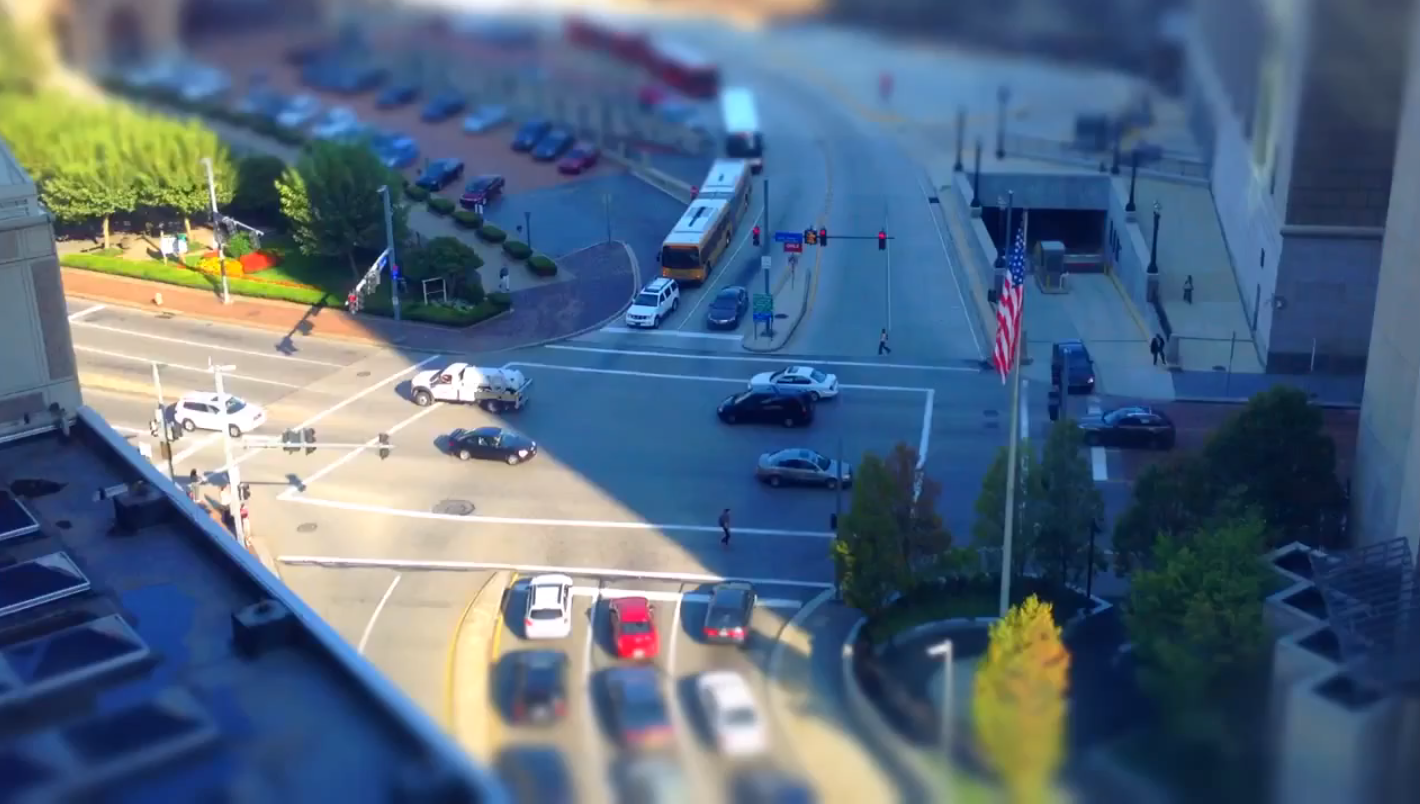 An American Junction: A Tiltshift Timelapse
