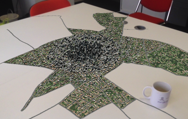 Augmented Reality City Table Top – Unity, CityEngine and Vufoira