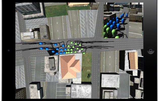 Urban Ball – CityEngine, Unity and Agent Based Modelling on the iPad