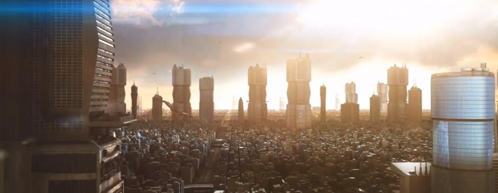 Mega City One using Greeble