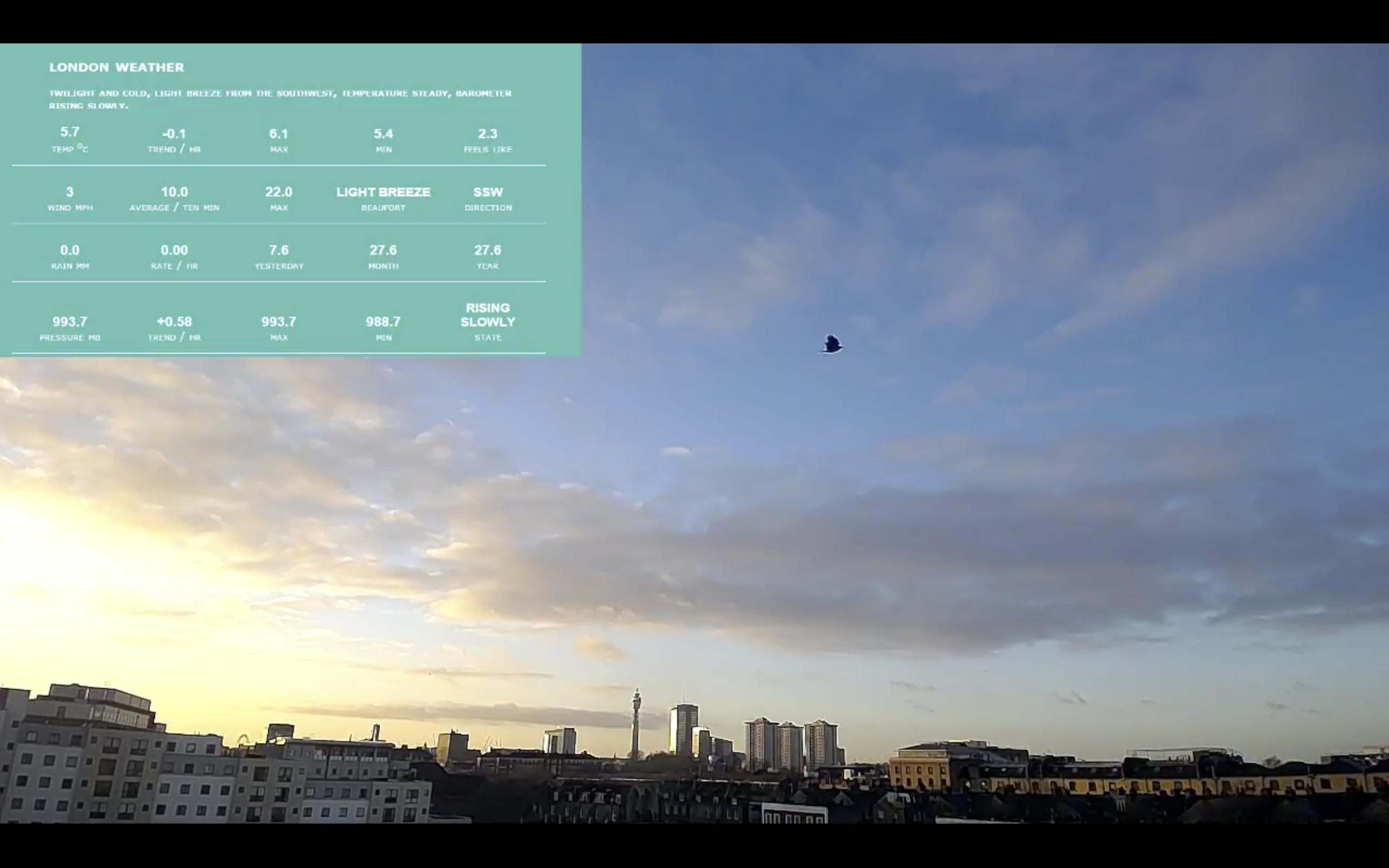 Streaming Urban Data – YouTube Live